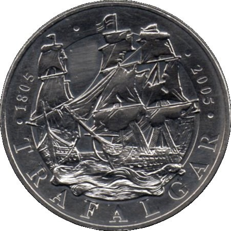 British 5 Pounds (2005 Elizabeth II-Trafalgar)