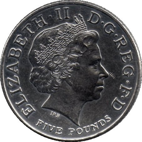 British 5 Pounds (2005 Elizabeth II-Horatio Nelson)