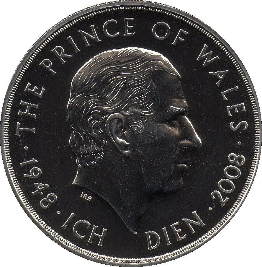 British 5 Pounds (2008 Elizabeth II-Prince Charles' Birthday)