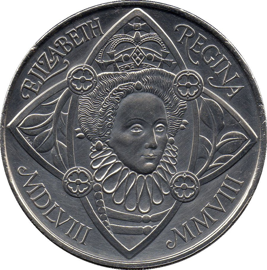 British 5 Pounds (2008 Elizabeth II-Queen Elizabeth I)