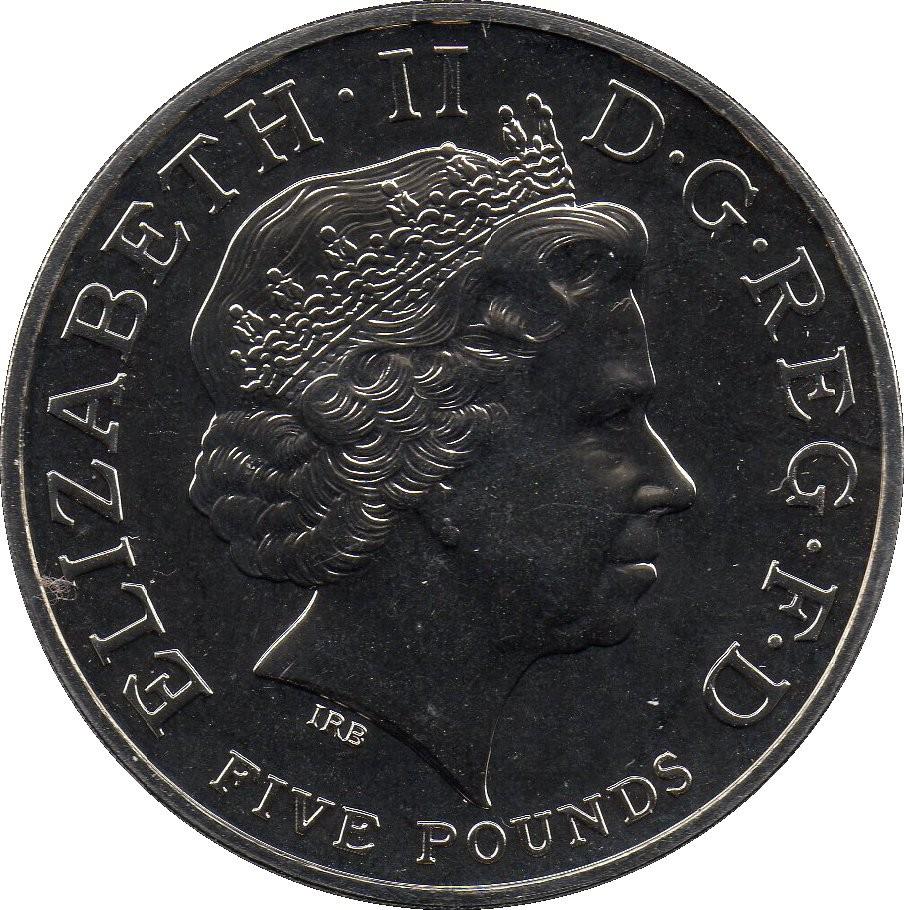 British 5 Pounds (2009 Elizabeth II-XXX Olympiad, Countdown 3)