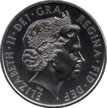 British 5 Pounds (2011 Elizabeth II-Prince Philip)