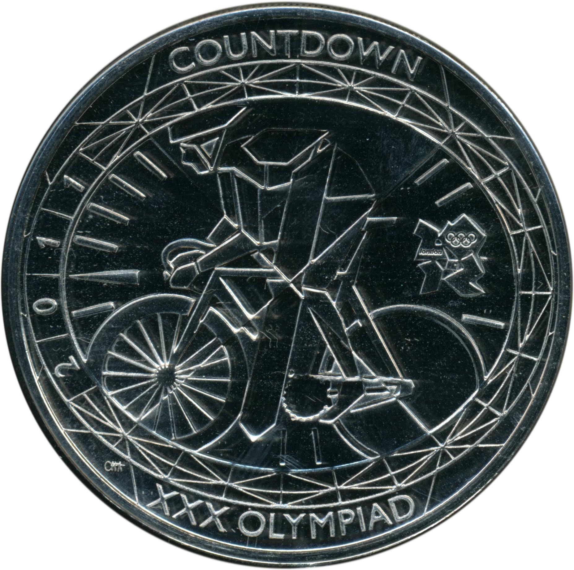 British 5 Pounds (2011 Elizabeth II-XXX Olympiad, Countdown 1)