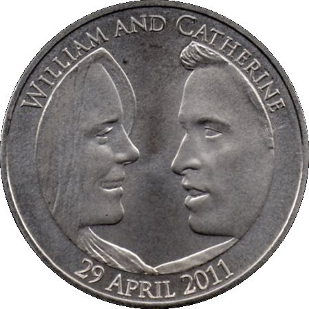 British 5 Pounds (2011 Elizabeth II-Royal Wedding)