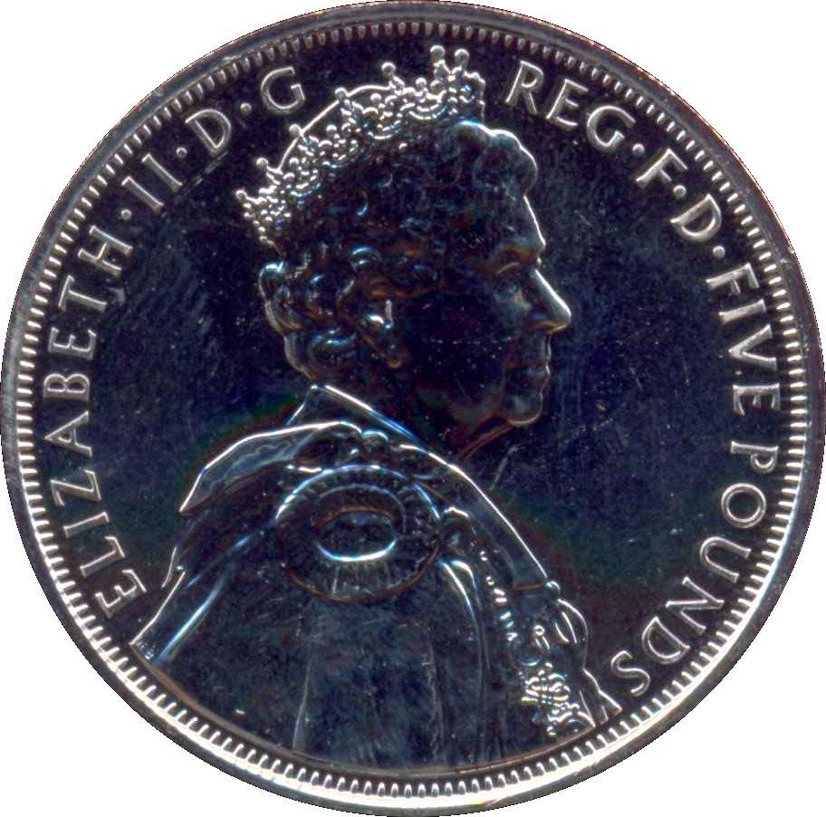 British 5 Pounds (2012 Elizabeth II-Diamond Jubilee)