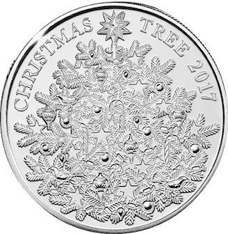 British 5 Pounds (2017 Elizabeth II-Christmas Tree)