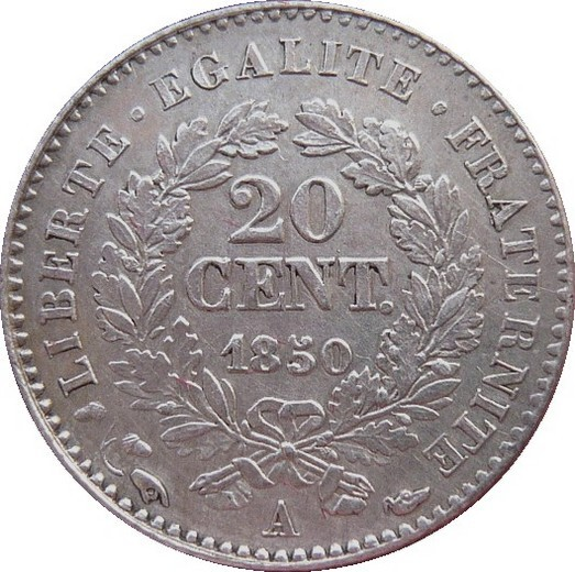 France 20 Centimes (1849-1851)