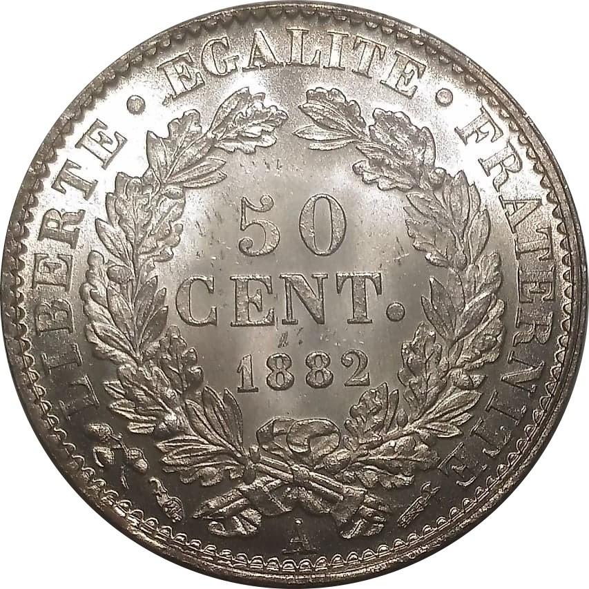 France 50 Centimes (1871-1895)
