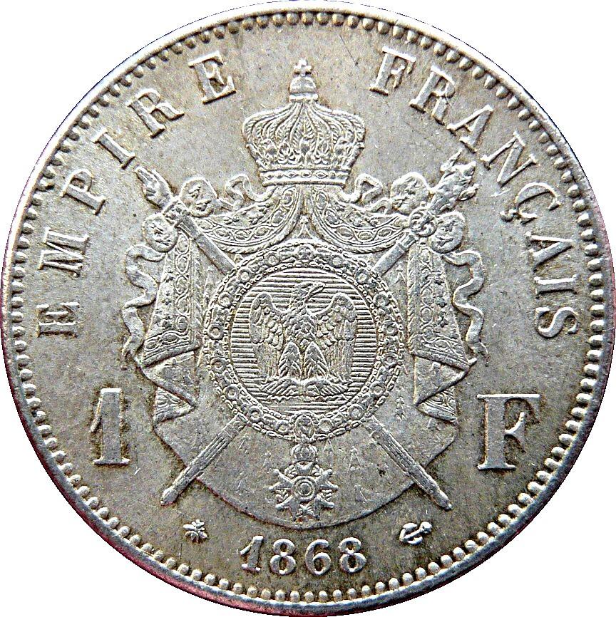 France 1 Franc (1862-1870 Napoleon III)