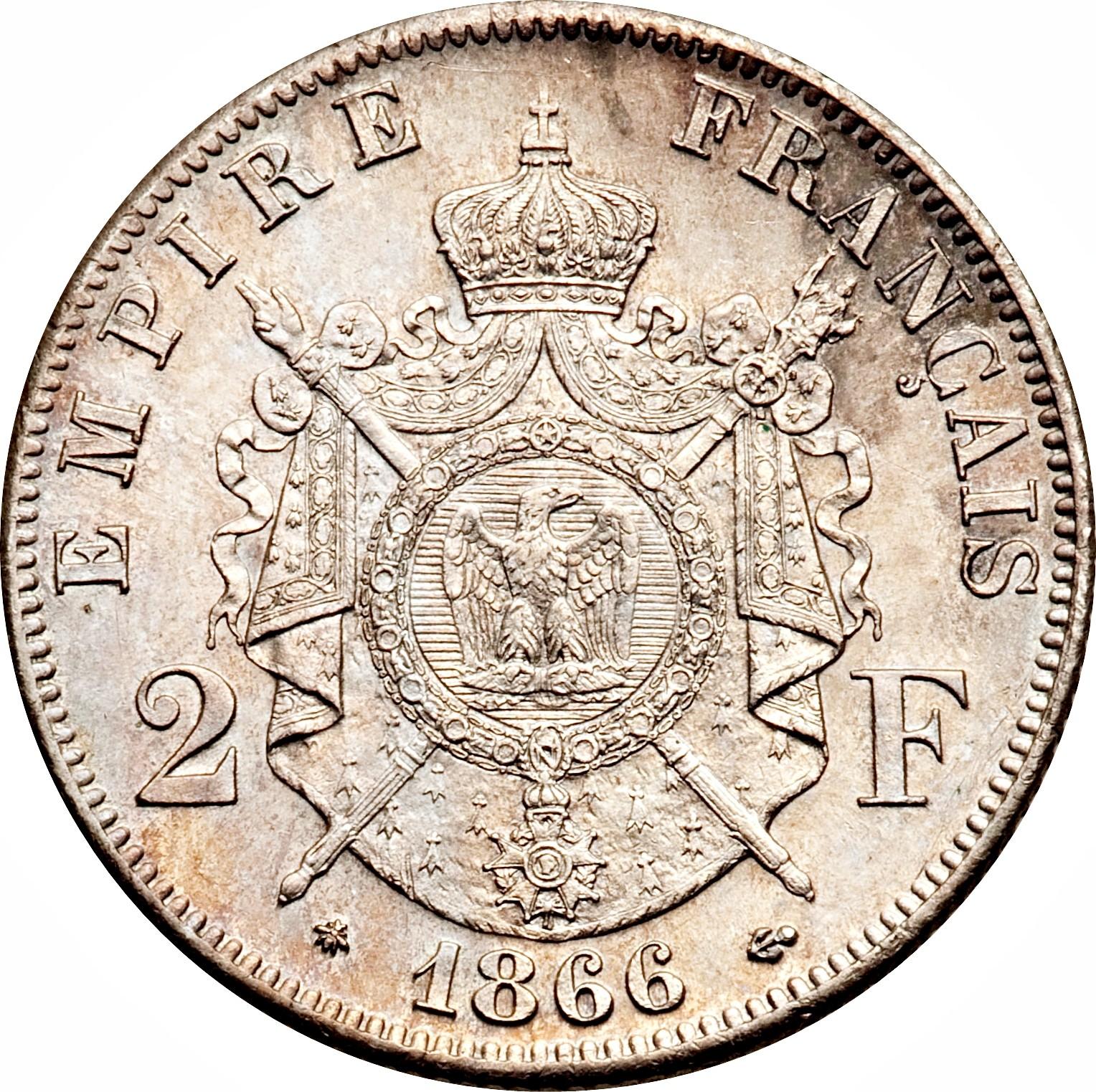 France 2 Francs (1866-1870 Napoleon III)