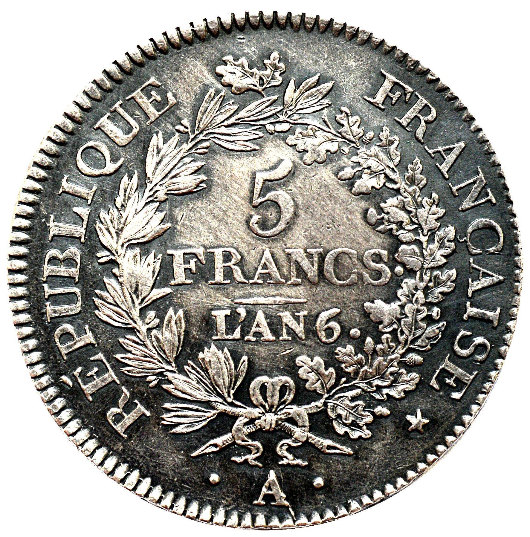 France 5 Francs (1795-1802 Union et Force)