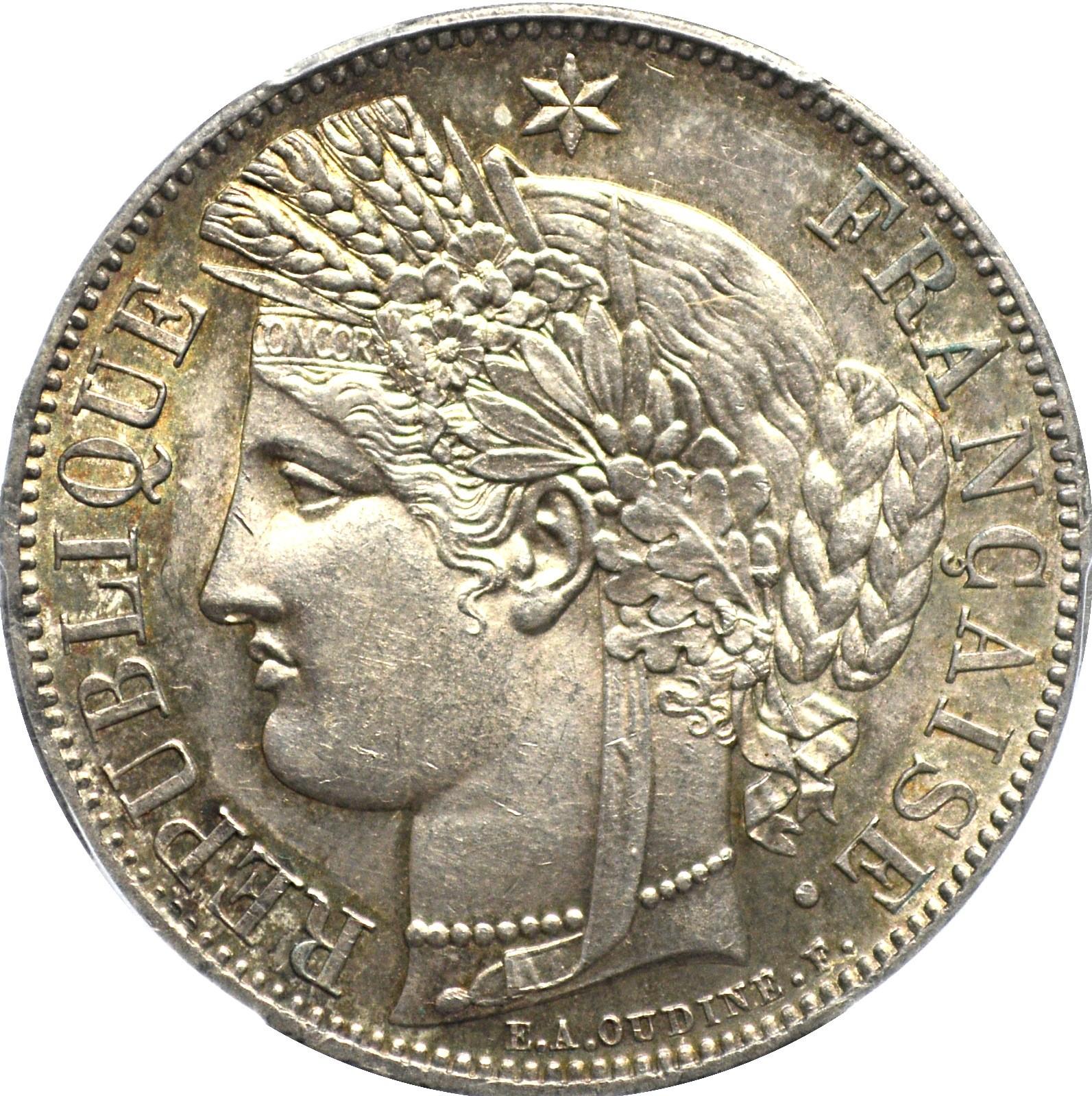 France 5 Francs (1849-1851 Ceres)