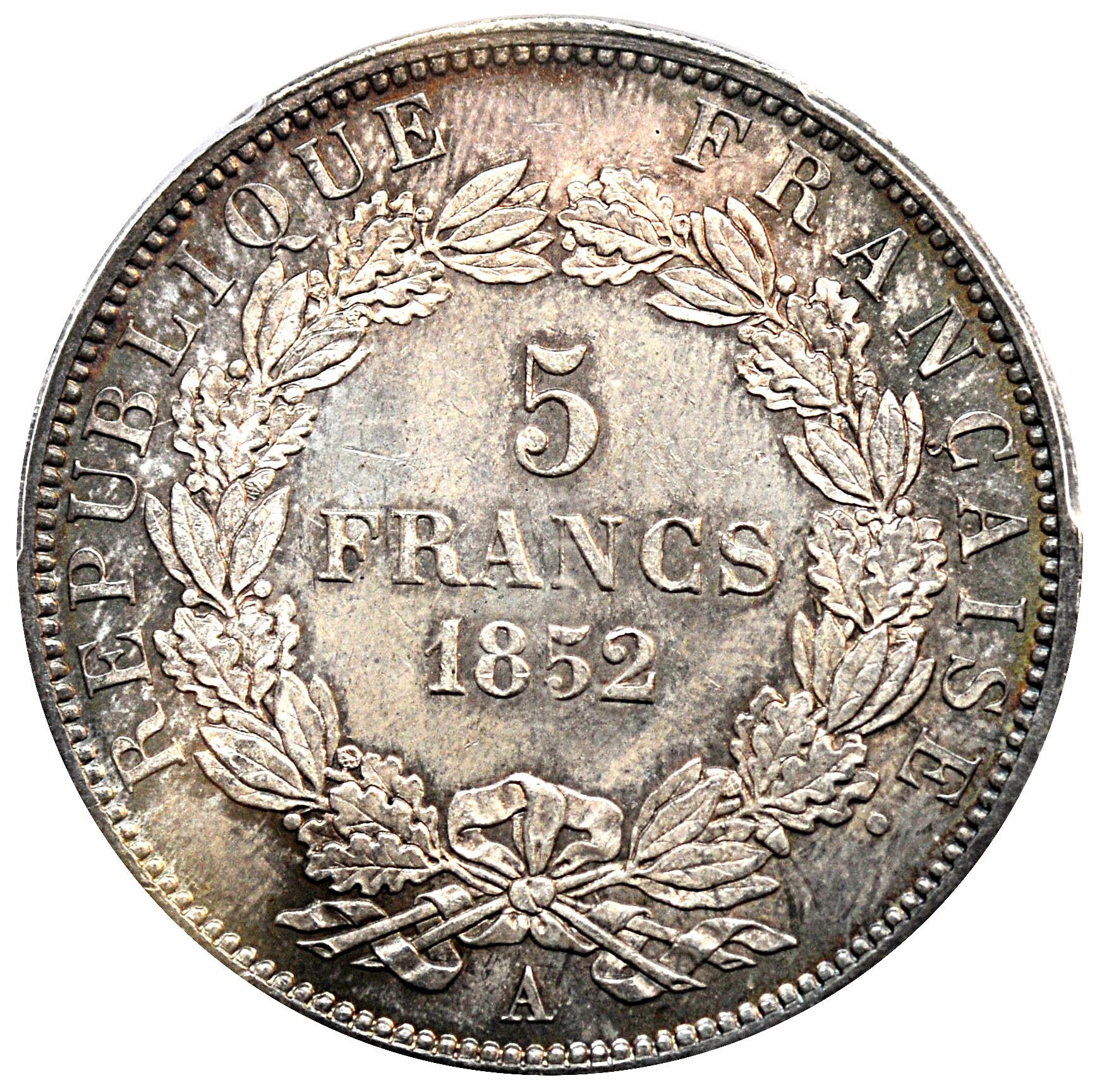 France 5 Francs (1852 Napoleon III)