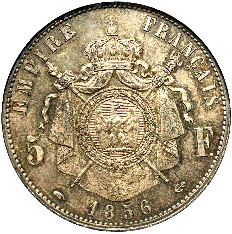 France 5 Francs (1853-1859 Napoleon III)
