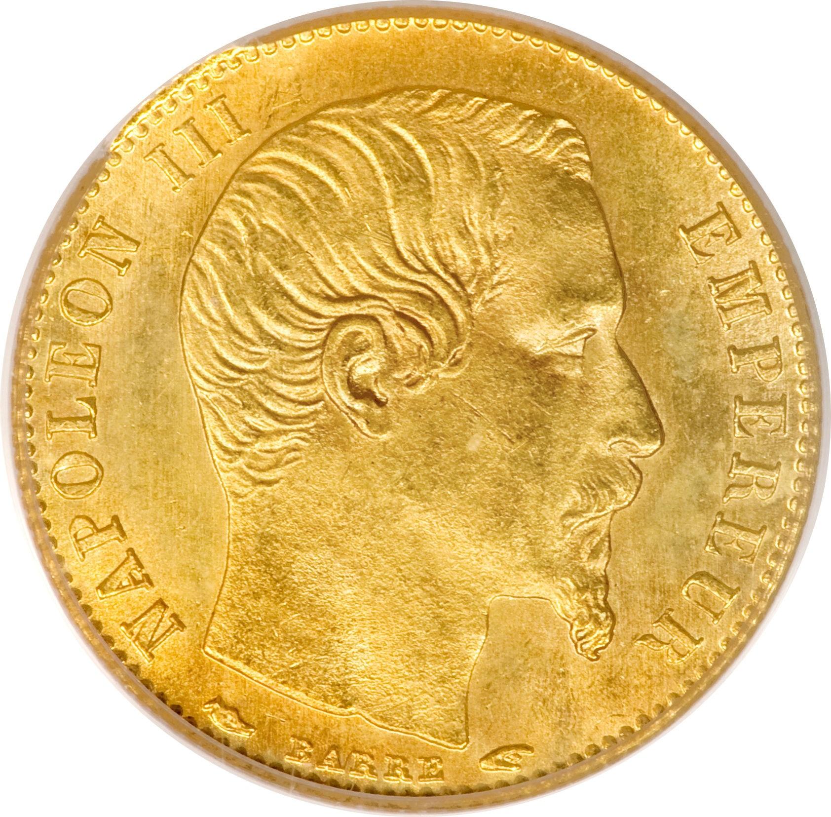France 5 Francs (1854-1855 Napoleon III)