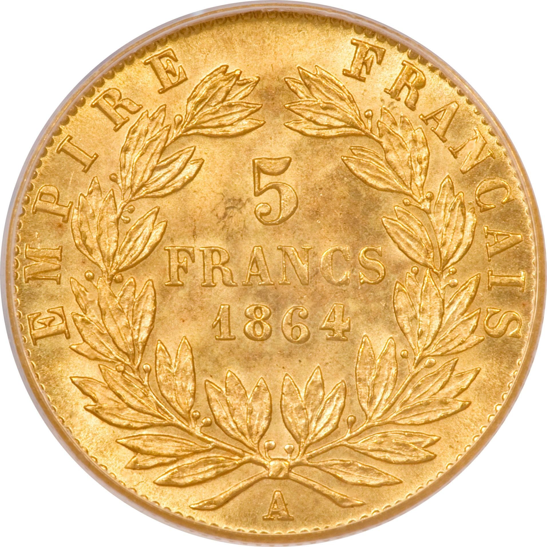 France 5 Francs (1862-1869 Napoleon III)