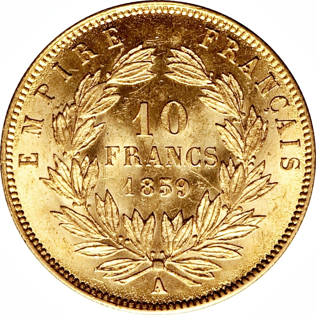 France 10 Francs (1854-1860 Napoleon III)