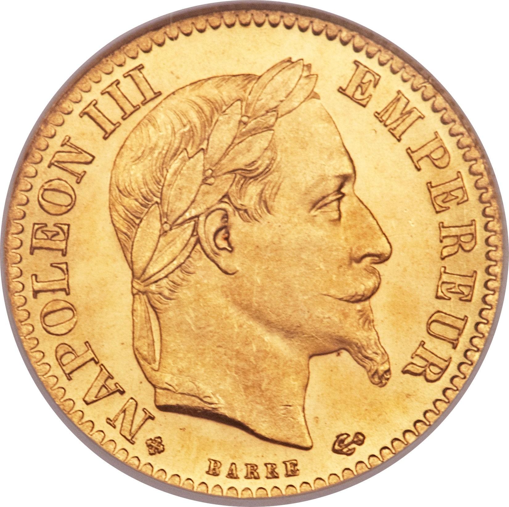 France 10 Francs (1861-1868 Napoleon III)
