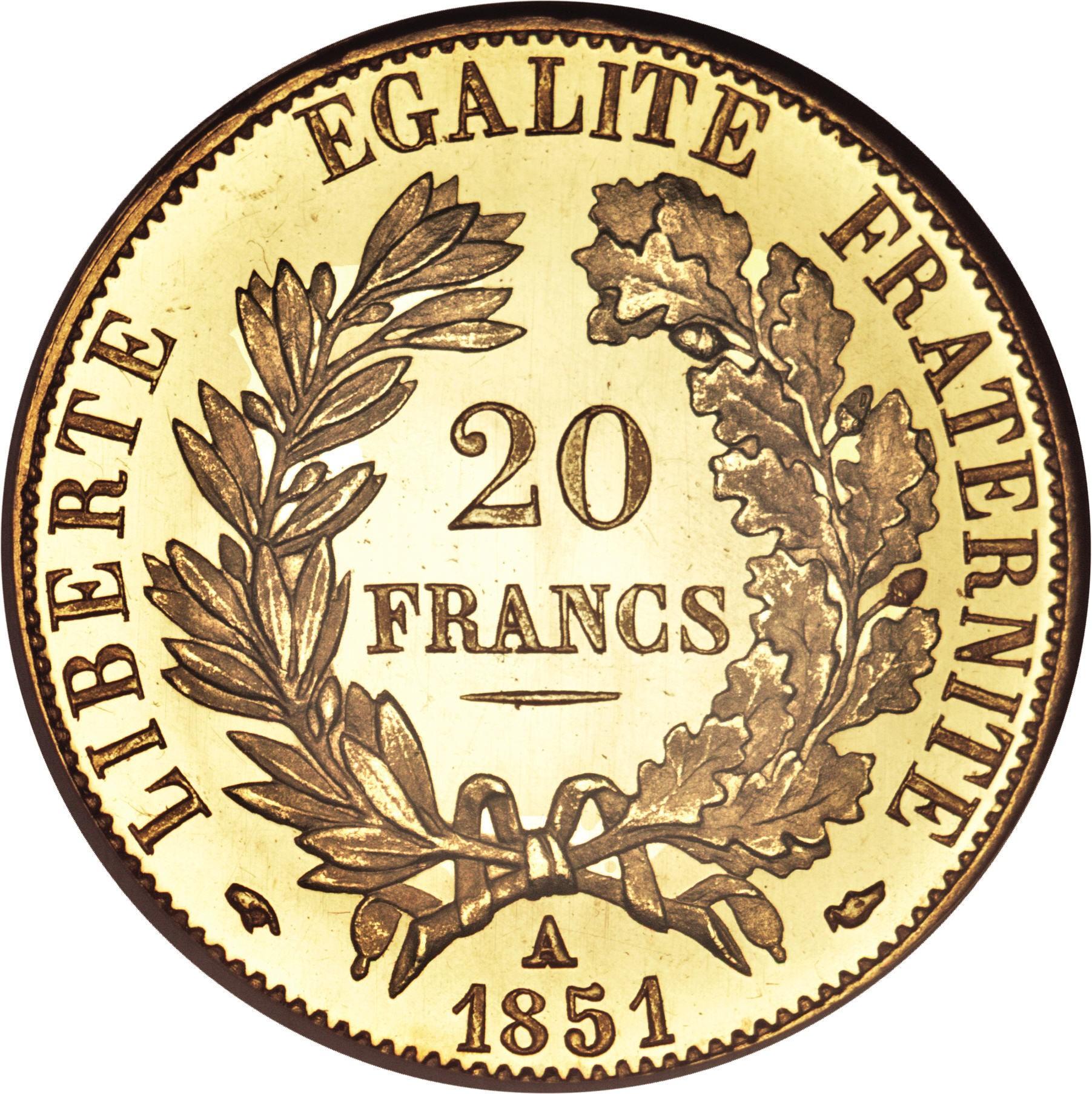 France 20 Francs (1849-1851)