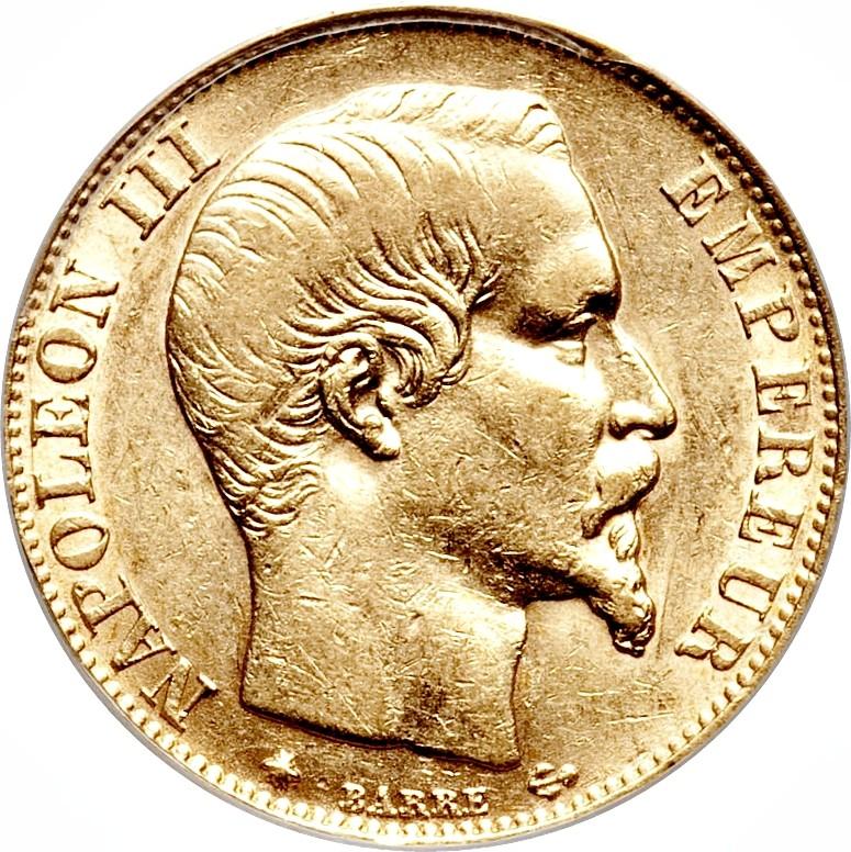 France 20 Francs (1853-1860)