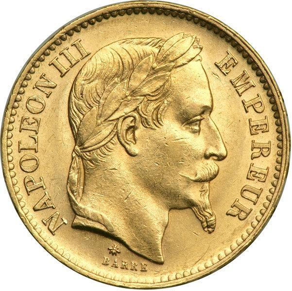 France 20 Francs (1861-1870 Napoleon III)