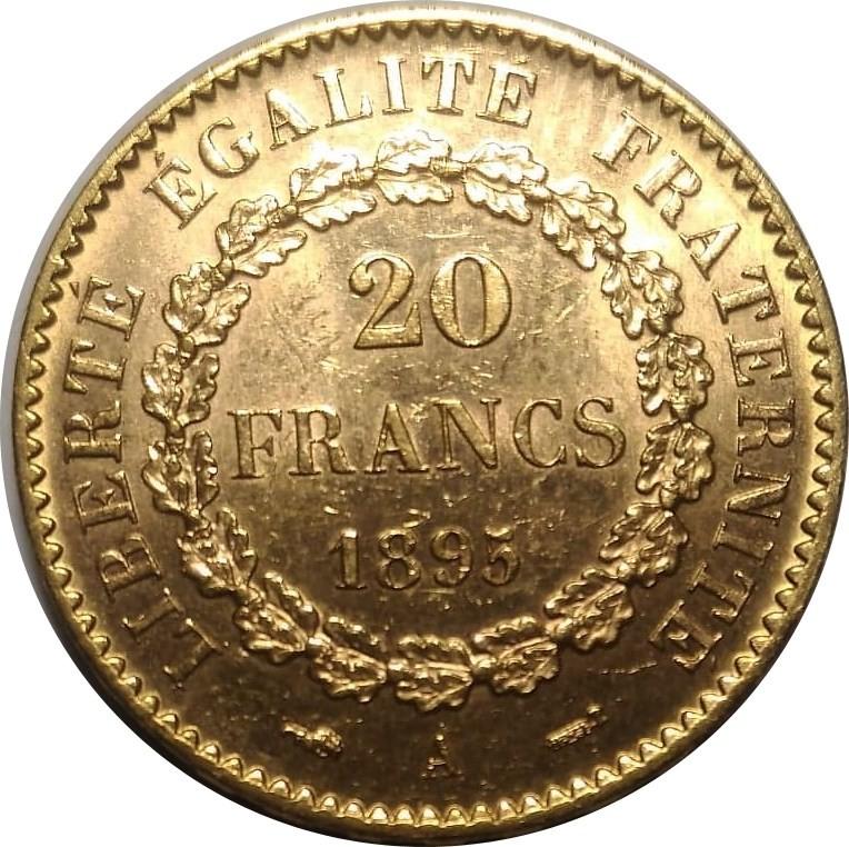 France 20 Francs (1871-1898)