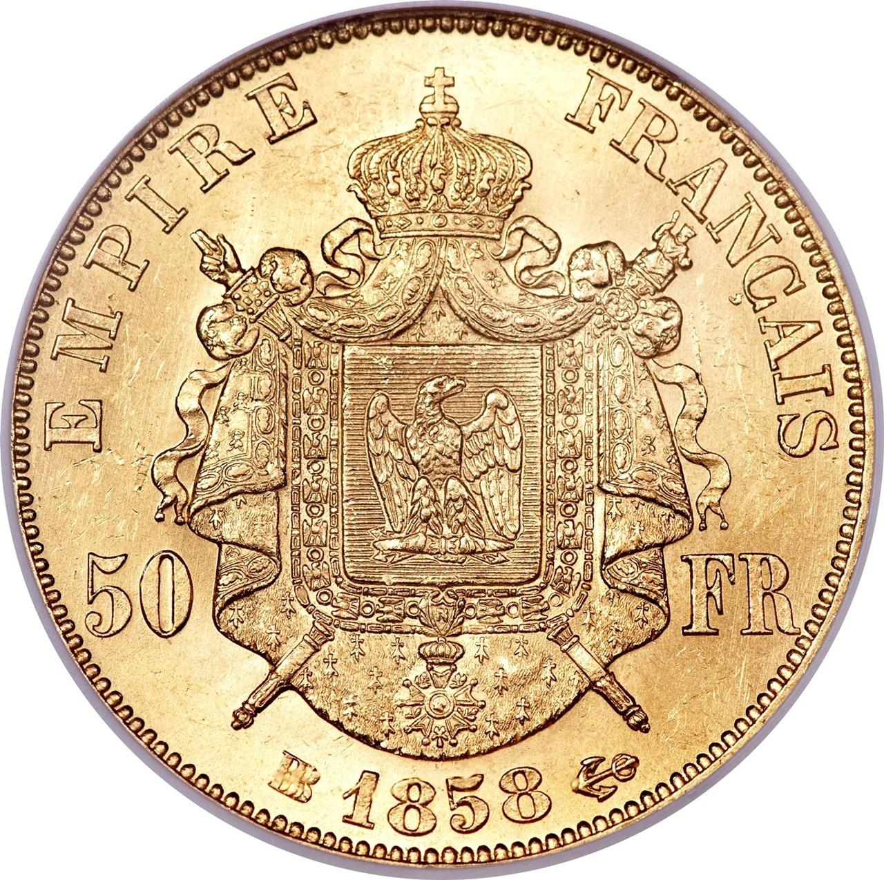 France 50 Francs (1855-1860 Napoleon III)