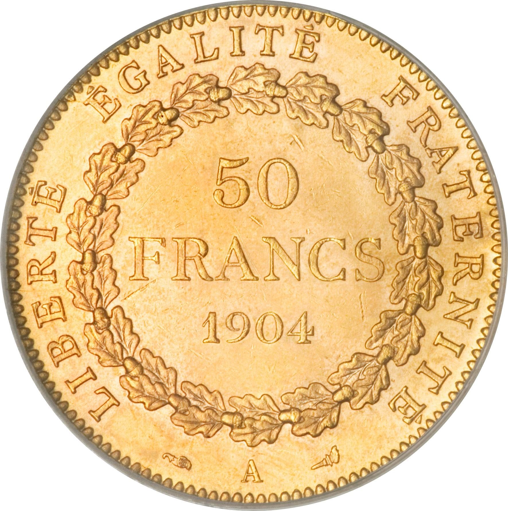 France 50 Francs (1878-1904)
