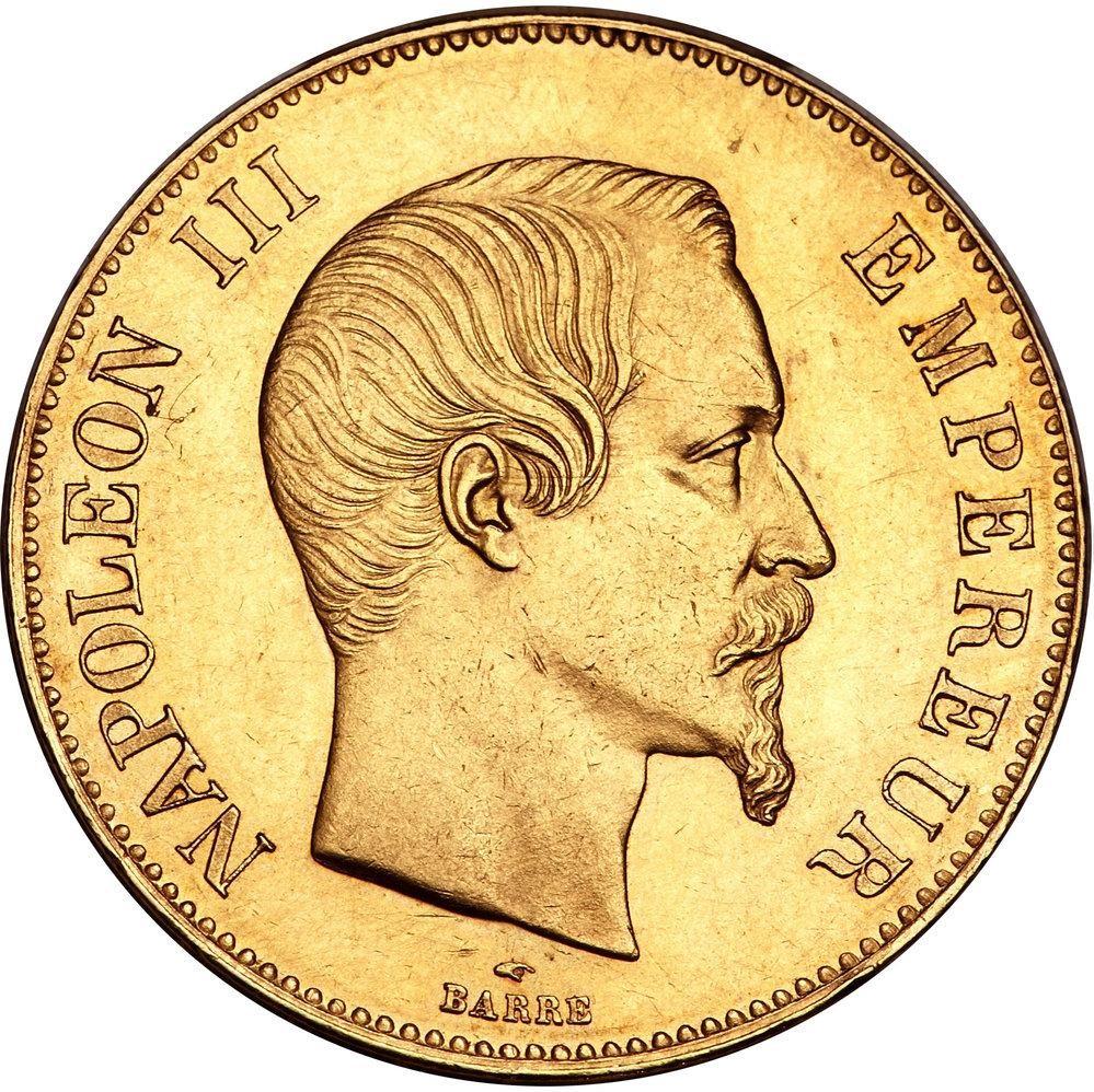 France 100 Francs (1855-1859 Napoléon III)