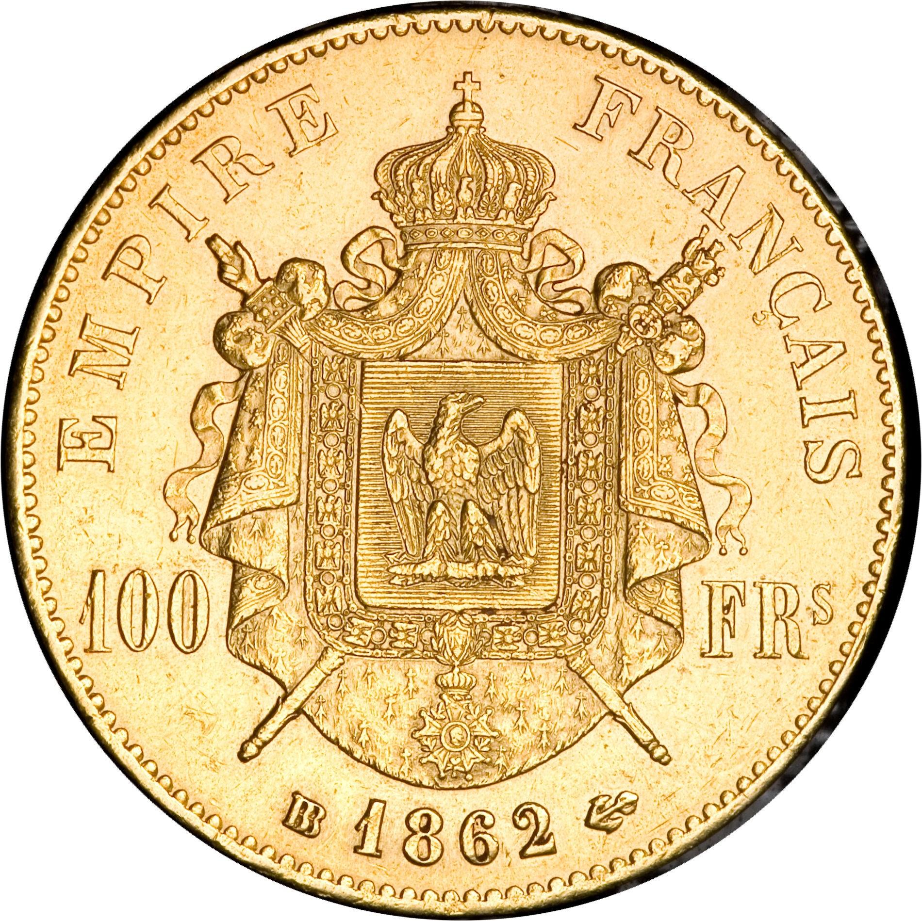 France 100 Francs (1862-1870 Napoléon III)