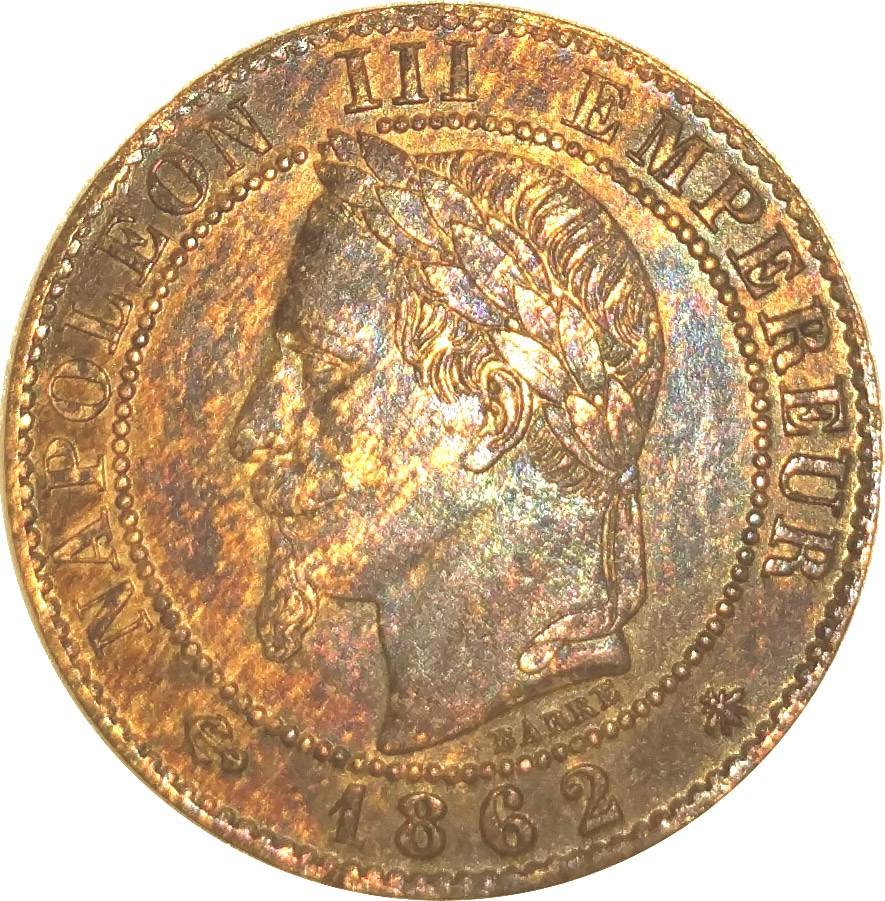 France 1 Centime (1861-1870 Napoleon III)