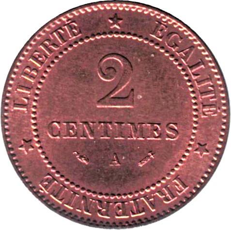 France 2 Centimes (1877-1897 Cérès)