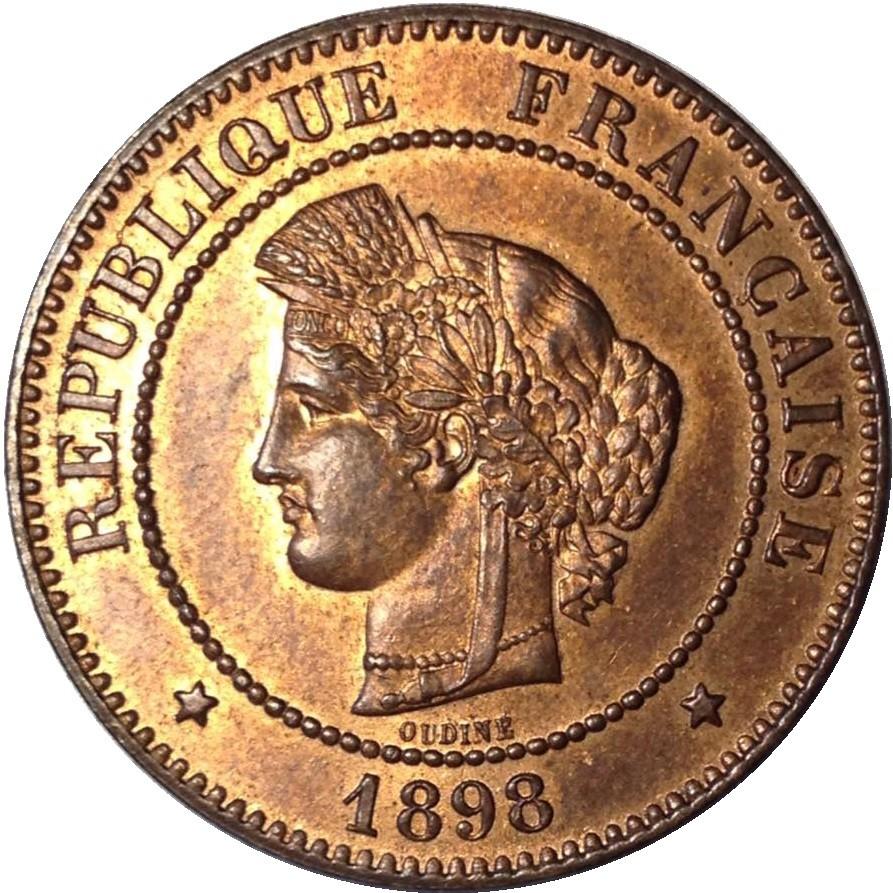 France 5 Centimes (1871-1898)