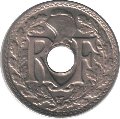 France 5 Centimes (1938-1939 Year With Points)