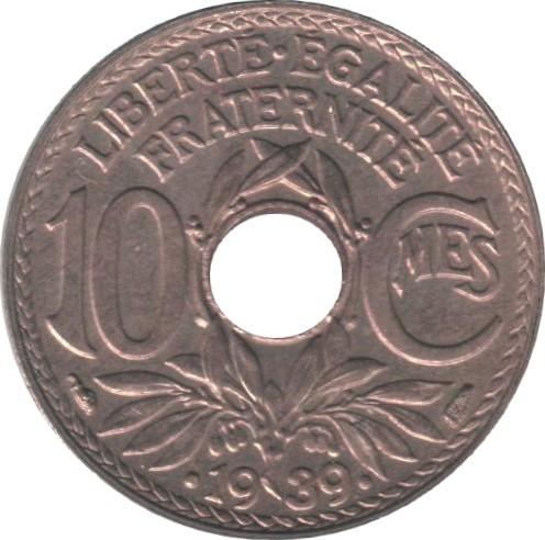 France 10 Centimes (1938-1939)