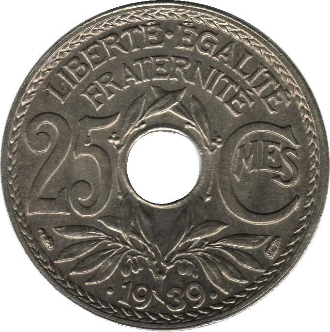 France 25 Centimes (1938-1940)