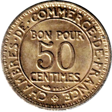 France 50 Centimes (1920-1929 Chambers of Commerce)