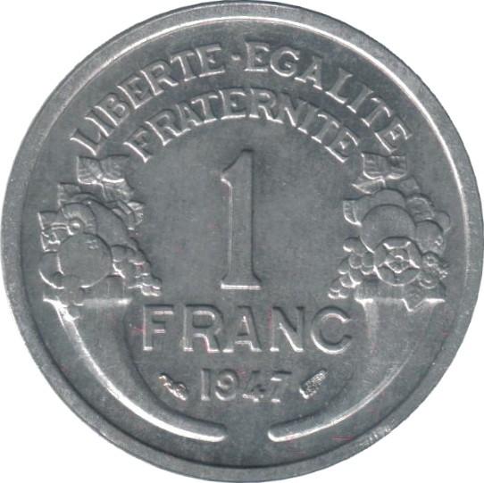 France 1 Franc (1941-1959 Light Type)