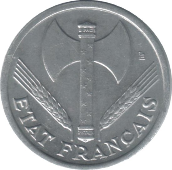 France 1 Franc (1942-1944 Vichy French State)