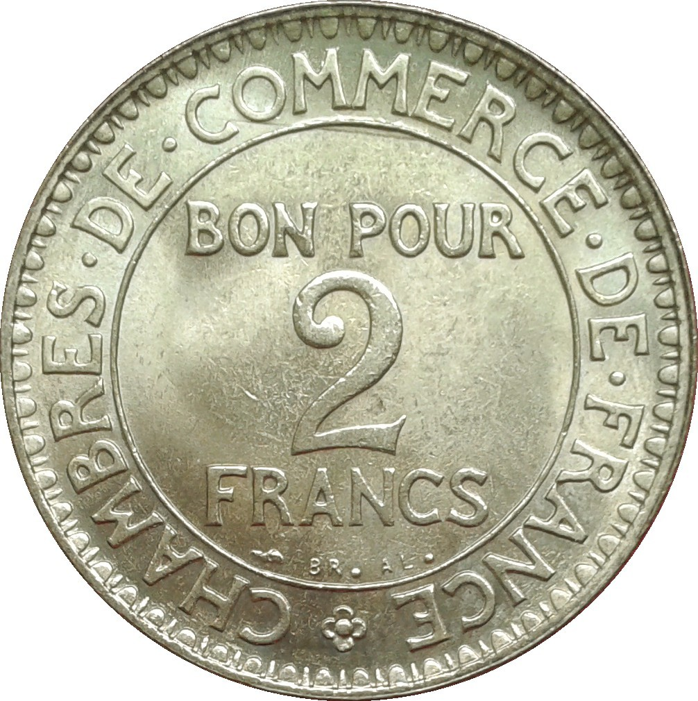 France 2 Franc (1920-1927 Chambres de Commerce)