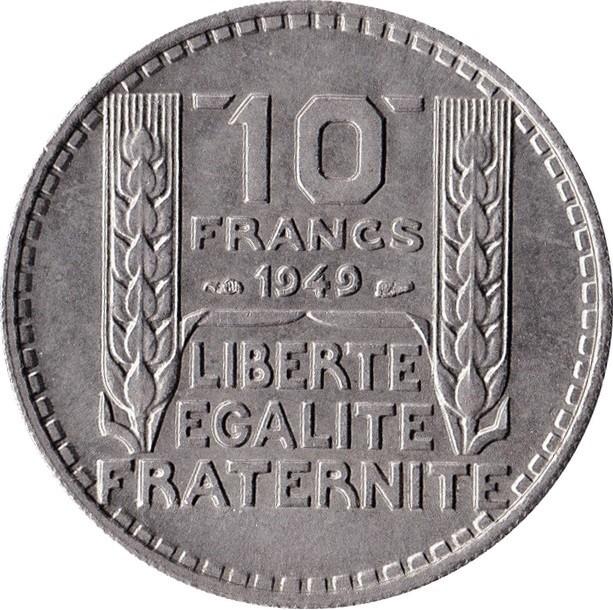 France 10 Francs (1947-1949 Small Head)