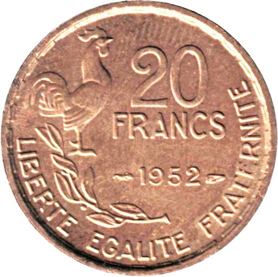 France 20 Francs (1950-1954 G GUIRAUD)