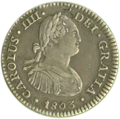 Mexico 1 Real (1792-1808 Carlos IV)