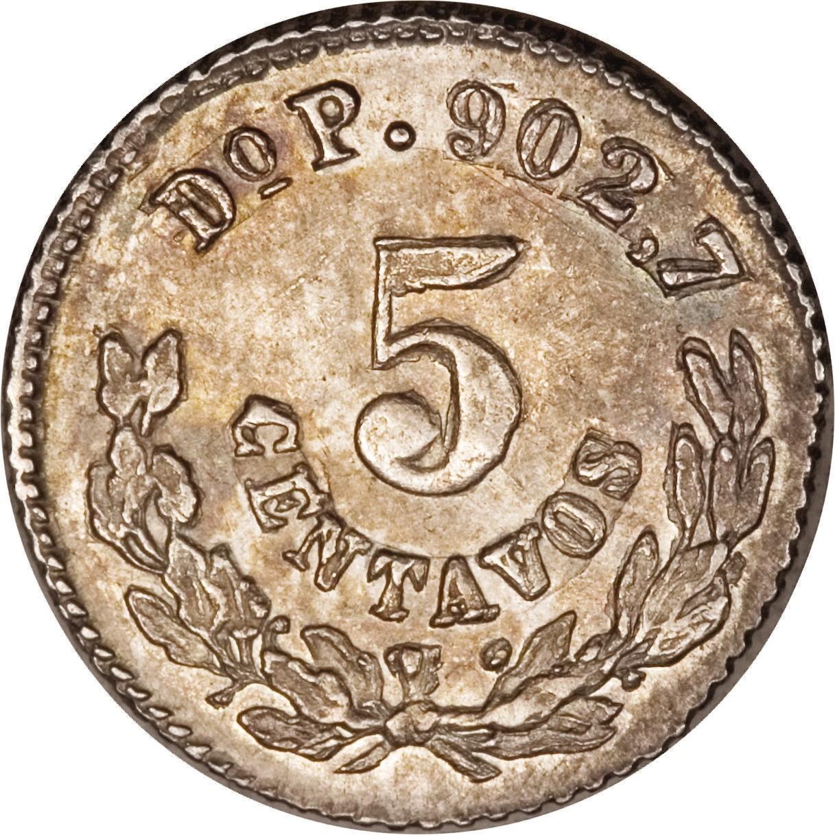 Mexico 5 Centavos (1869-1898)
