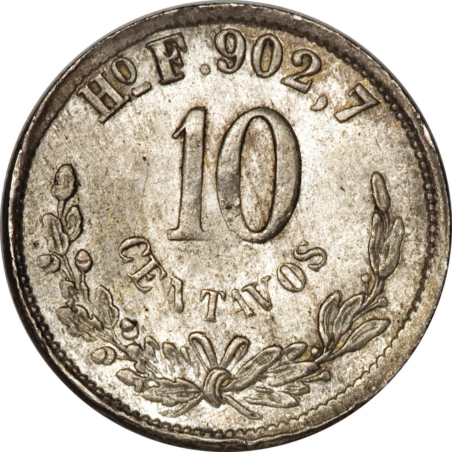 Mexico 10 Centavos (1869-1897)