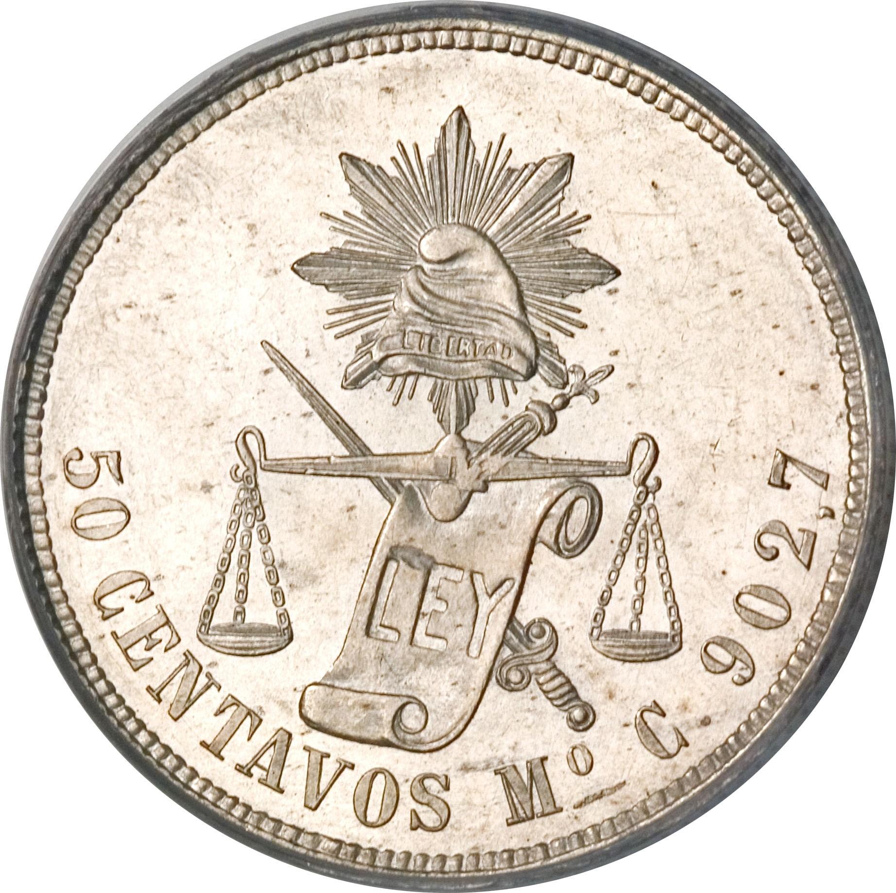 Mexico 50 Centavos (1869-1895)