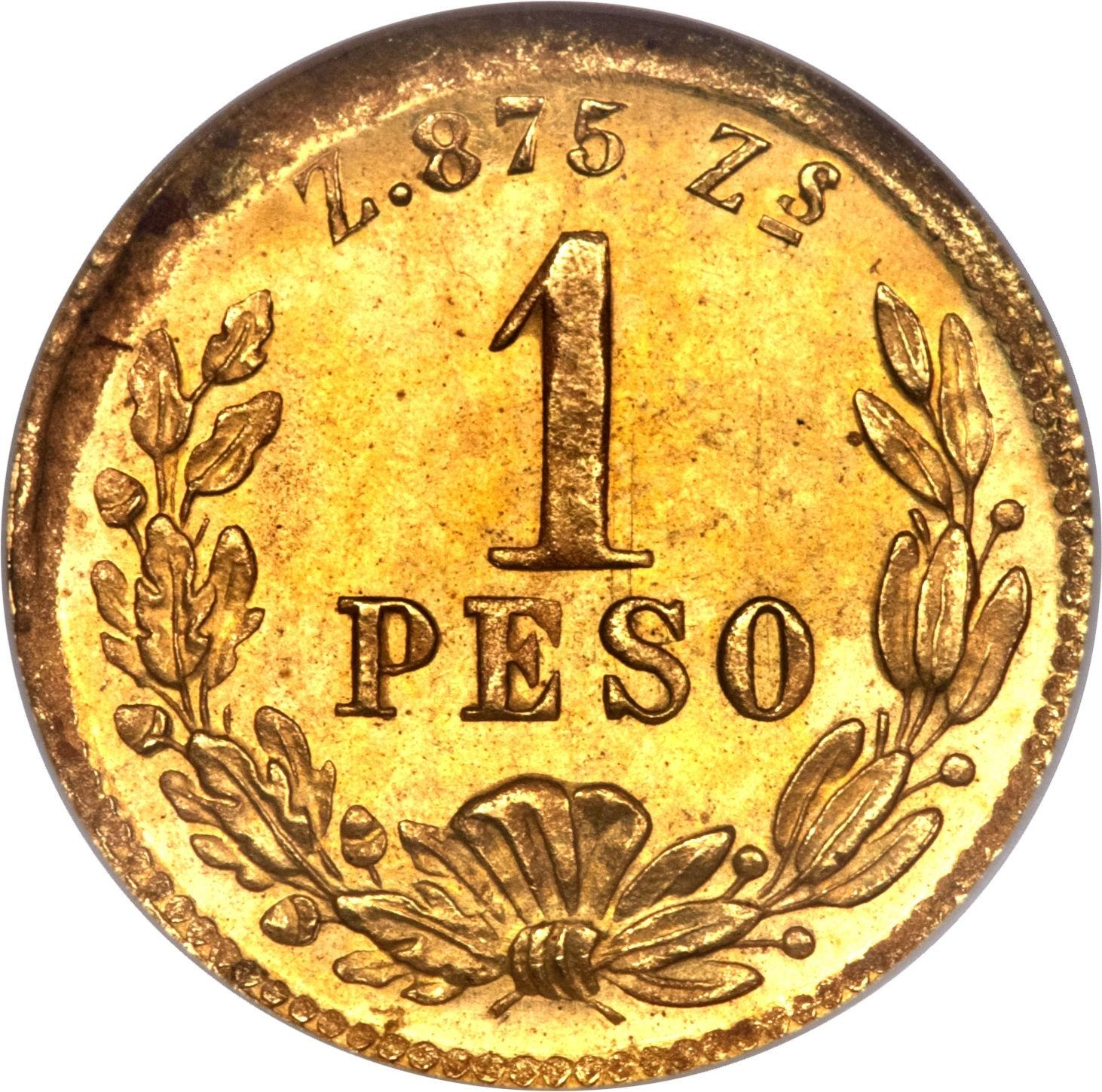 Mexico 1 Peso (1870-1905)