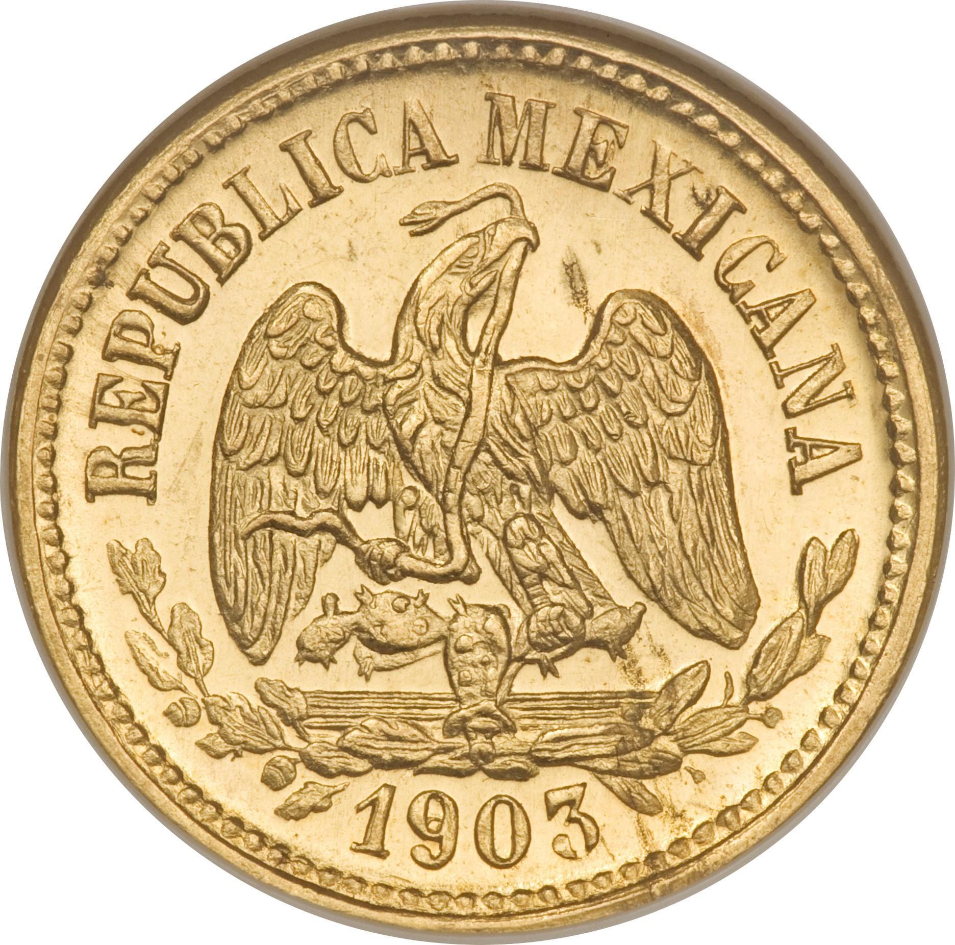 Mexico 5 Pesos (1870-1905)