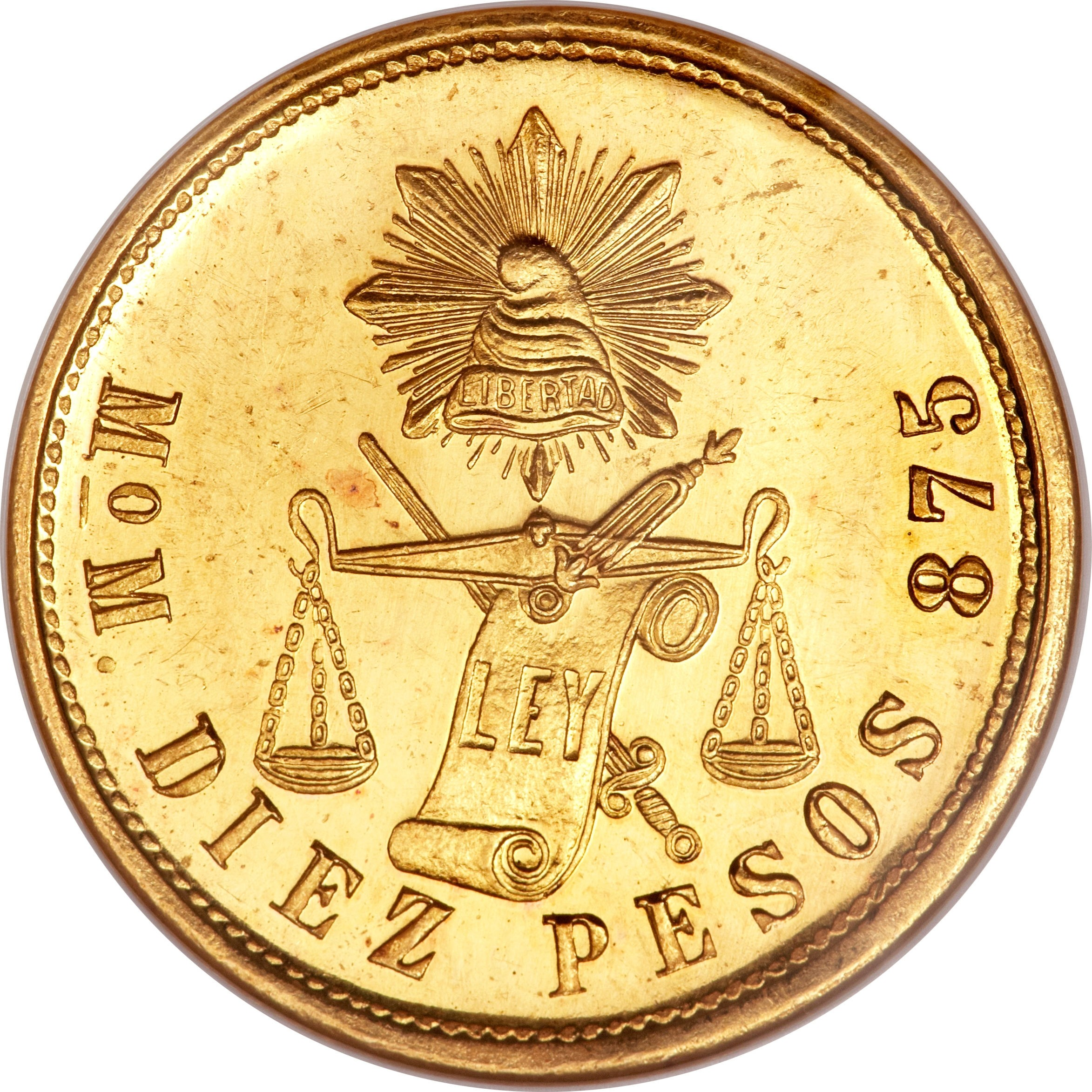 Mexico 10 Pesos (1870-1905)