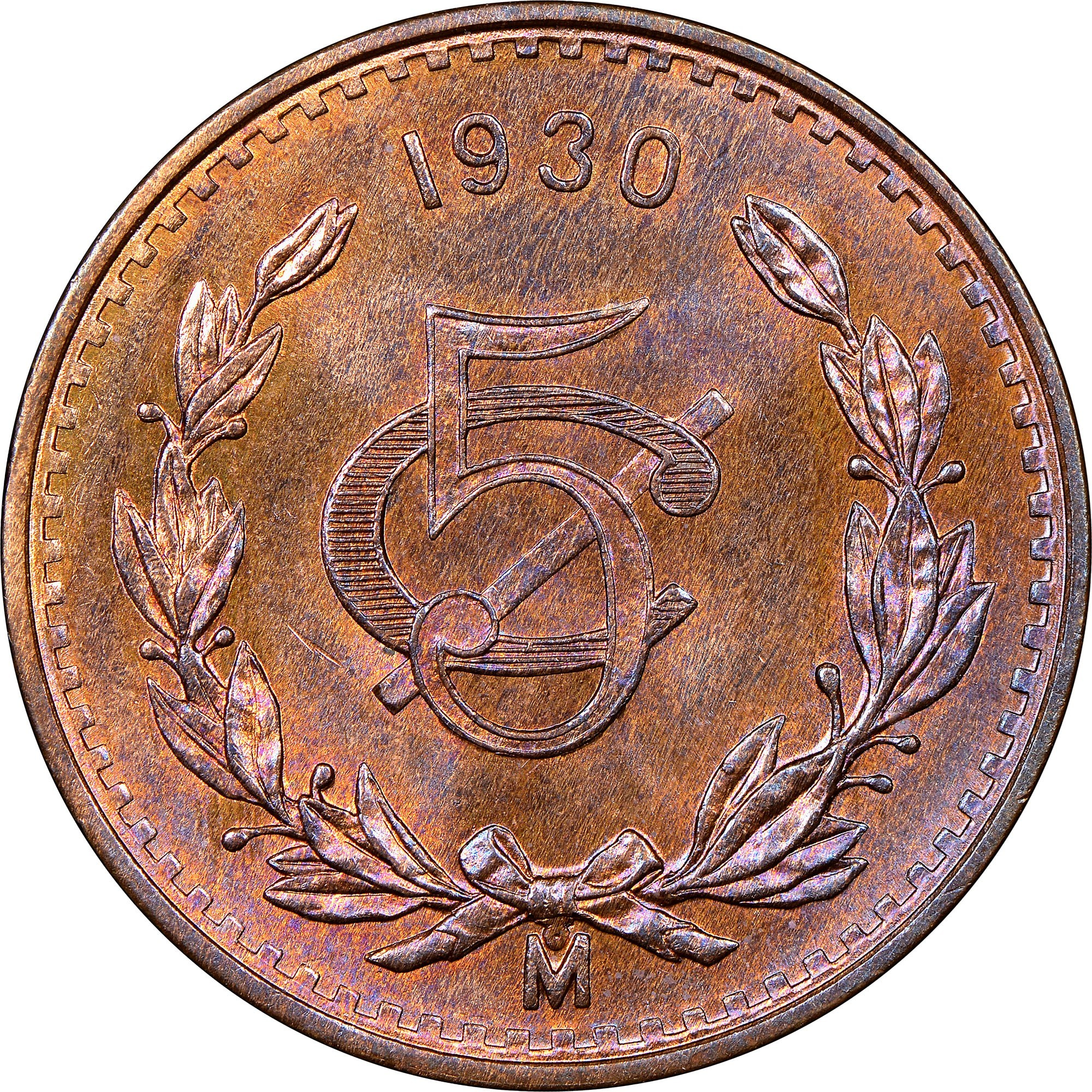 Mexico 5 Centavos (1914-1935)